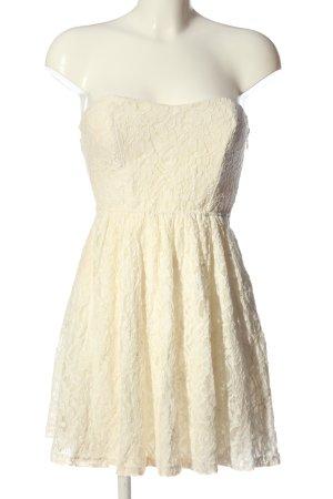 Blind Date schulterfreies Kleid wollweiß Elegant