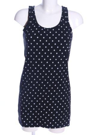 Blind Date Shirtkleid blau-weiß Punktemuster Casual-Look