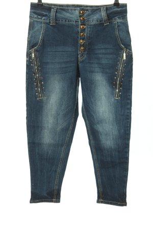 Blind Date Jeans slim fit blu stile da moda di strada
