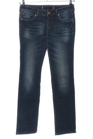 Blind Date Jeans coupe-droite bleu style décontracté