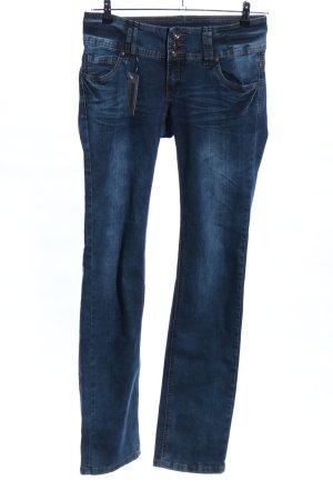 Blind Date Straight-Leg Jeans blau Casual-Look