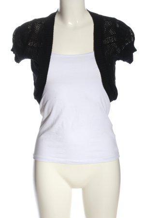 Blind Date Bolero lavorato a maglia nero modello web stile casual
