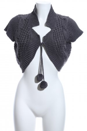 Blind Date Knitted Bolero light grey flecked casual look