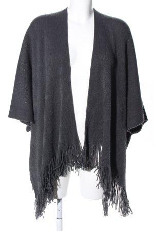 Blind Date Poncho en tricot gris clair style décontracté