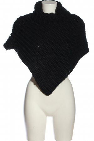 Blind Date Knitted Poncho black casual look