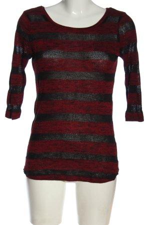 Blind Date Strickshirt rot-schwarz meliert Casual-Look