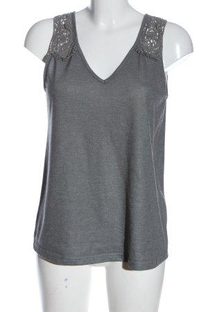 Blind Date Top lavorato a maglia grigio chiaro stile casual