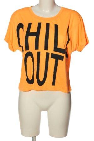 Blind Date T-shirt arancione chiaro-nero caratteri stampati stile casual
