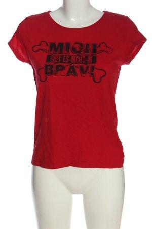 Blind Date T-shirt rood-zwart gedrukte letters casual uitstraling