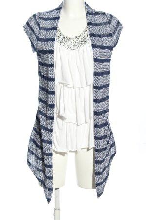 Blind Date Twin set in maglia blu-bianco stampa integrale stile casual