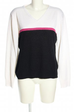Blind Date V-Neck Sweater striped pattern casual look