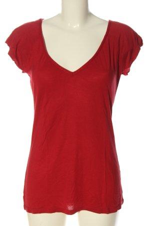 Blind Date Maglia con scollo a V rosso stile casual