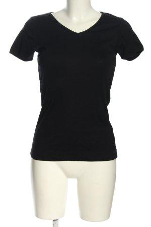 Blind Date V-Ausschnitt-Shirt schwarz Casual-Look