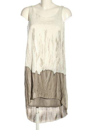 Blind Date Vestito vokuhila bianco sporco-marrone motivo astratto stile casual