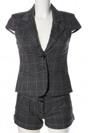 Blind Date Woven Twin Set light grey-pink check pattern business style