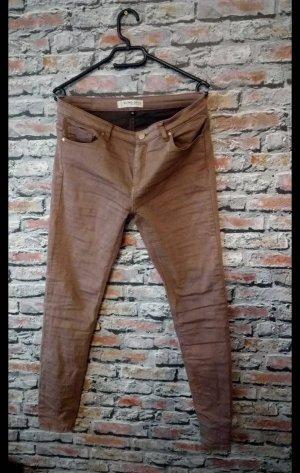 Blind Date Pantalón de tubo marrón