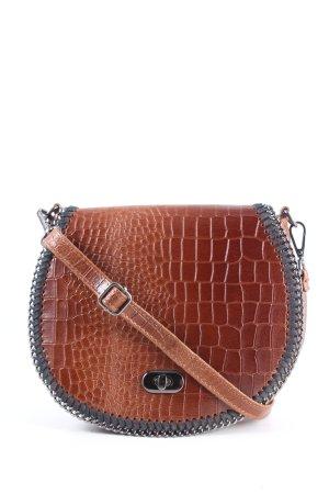 blingberlin Mini Bag brown animal pattern casual look