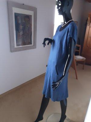 Blink, blaues Leinenkleid, Gr. L