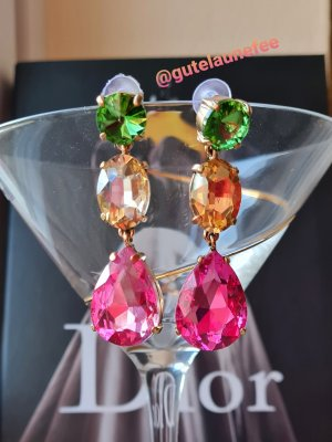 Glitzerfee Statement Earrings multicolored