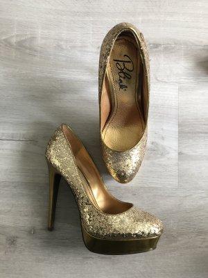 Blink High Heel Pumps Gold Glitzer Gr. 37 *neuwertig!*