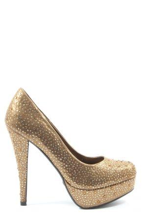 Blink High Heels bronzefarben Glitzer-Optik