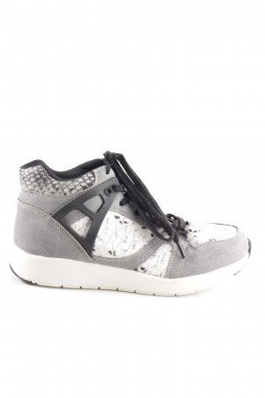 Blink High Top Sneaker hellgrau-weiß Animalmuster Casual-Look