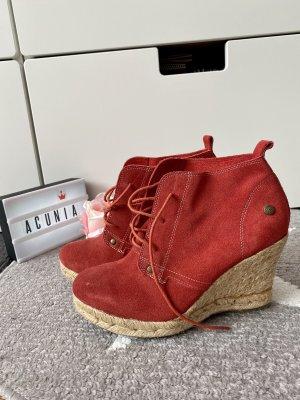 Blink Leder Stiefeletten rot Größe 37