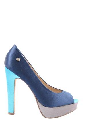 Blink Peep Toe Pumps blue casual look