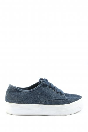 Blink Lace-Up Sneaker blue-white casual look