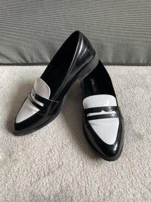 Blink Schuhe Loafer Slipper schwarz weiß Größe 37