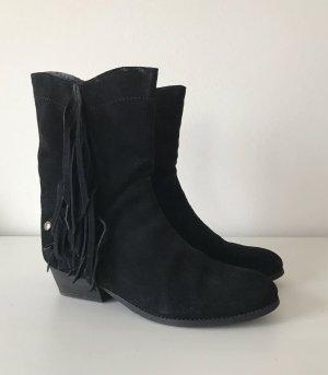 Blink Suede Cowboy Boots 38 Fransen Western Stiefel Leder Stiefeletten Biker