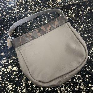 BLINXTA Borsa sacco marrone-grigio Pelle