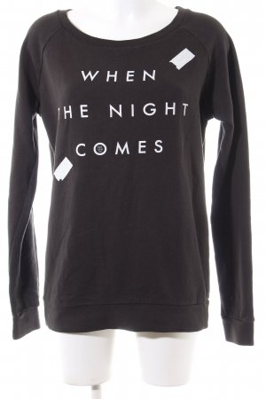 Blk dnm Sweat Shirt brown-white printed lettering casual look