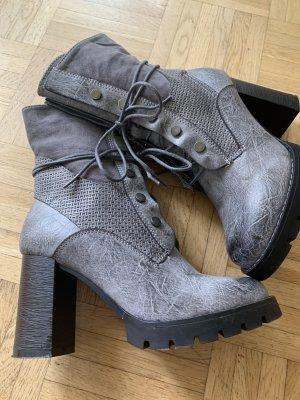 Blockabsatz Lady Stiefelette - Grey/Grau - Größe 38 - Edel