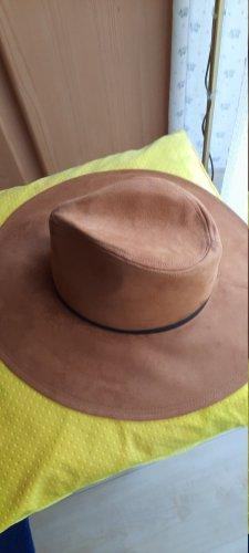 Felt Hat cognac-coloured mixture fibre