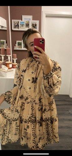H&M Sukienka z rękawem balonowym Wielokolorowy