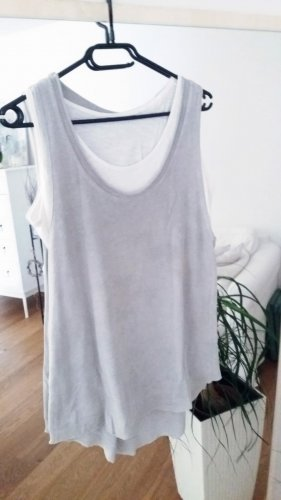 Boutique Ware Strappy Top white-light grey
