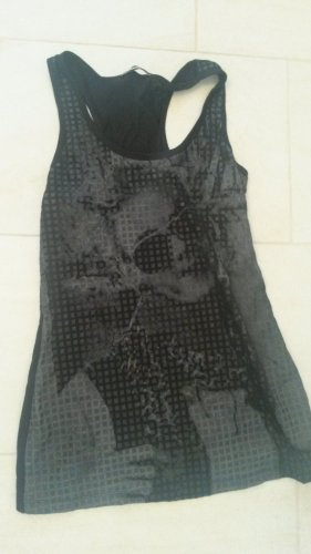 Canotta nero-grigio scuro Viscosa
