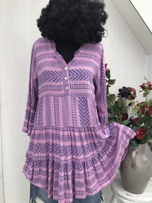 Made in Italy Sukienka tunika różowy-liliowy