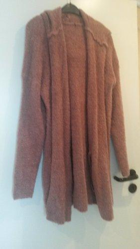 Cappotto a maglia rosa antico-albicocca