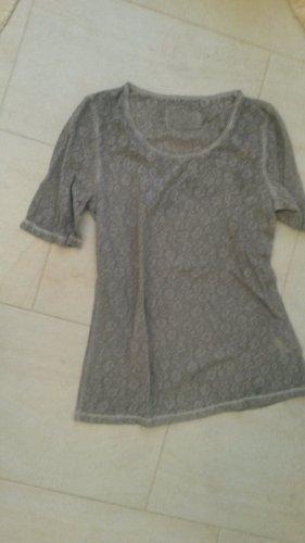 BLOGGER ! cooles Oberteil Pailletten T Shirt Top Bluse - BACKSTAGE Gr XL evtl L