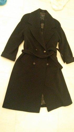 BLOGGER DESIGNER angesagt langer Mantel HUCKE - WOLLE & KASCHMIR CASHMERE gothic Elegant - Gr L XL