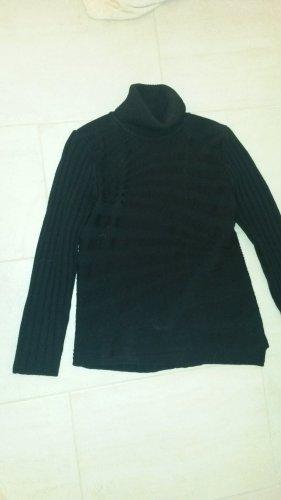 BLOGGER Designer Winter Pullover Pulli Rolli M E R I N O WOLLE  SEM PER LEI - L ev XL