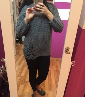 Blogger Destroyed Pullover von H&M