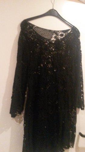 BLOGGER ! einmalig schönes Vintage Retro Kleid Lochstickerei Häkelkleid BOHO A-Linie