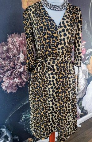 Blogger Favorite Na-Kd Ganni Style Leopard Leo print Midi Kleid