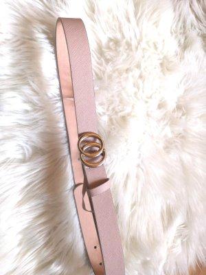 Primark Cinturón de cuero de imitación color plata-rosa empolvado
