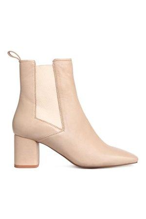 Blogger Influencer Chelsea Ankle Boots beige nude H&M Premium Echtleder Gr. 36 Herbst