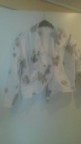 BLOGGER ! leichte schöne besondere Sommer Leinen Jacke L XL - TURBULENCE