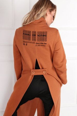 Manteau long beige-orange clair